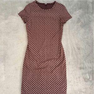 Old Navy Burgundy Polka Dot Knit T-Shirt Dress